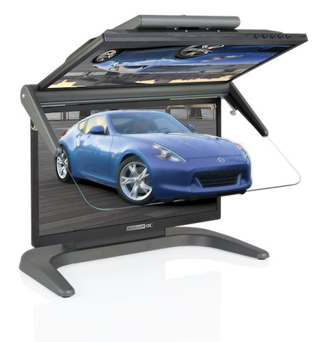 Stereo-Monitor 3D PluraView Full HD 22